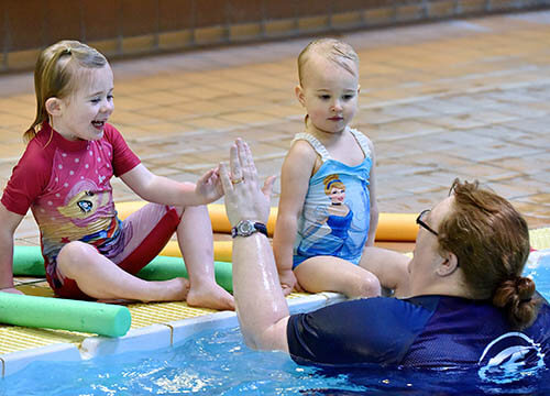 Private swimming lessons at Penlan Leisure Centre, Swansea