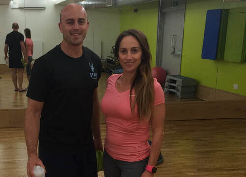 Joe and Andrea post Pilates at Freedom Leisure Hailsham Leisure Centre