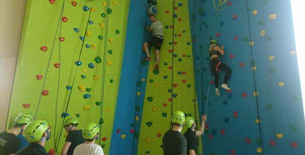 New climbing wall is now open at The Nene Centre Thrapston, East Northamptonshire