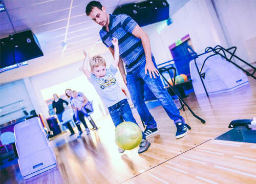 Family tenpin bowling at Hailsham Leisure Centre