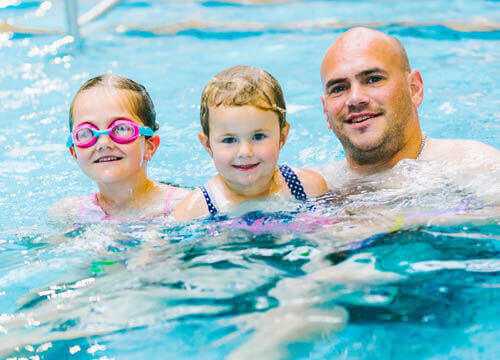 Family swimming at Freedom Leisure