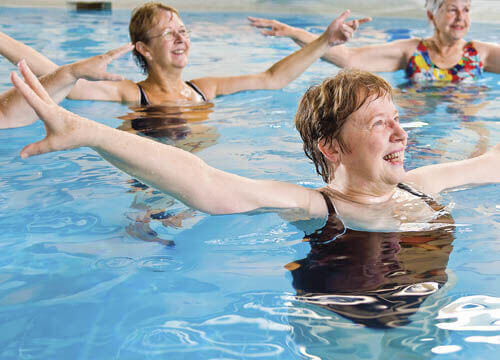 Swimming is great exercise for all