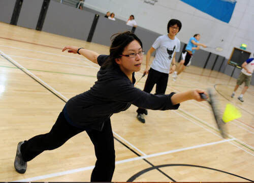 badminton and table tennis at crowborough leisure centre