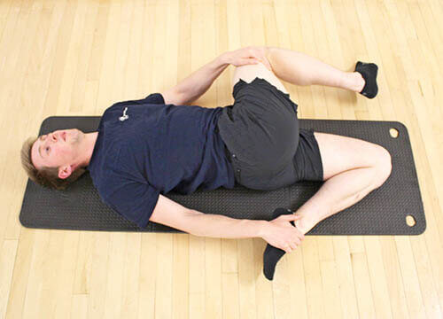 T-spine rotation/windmill stretch